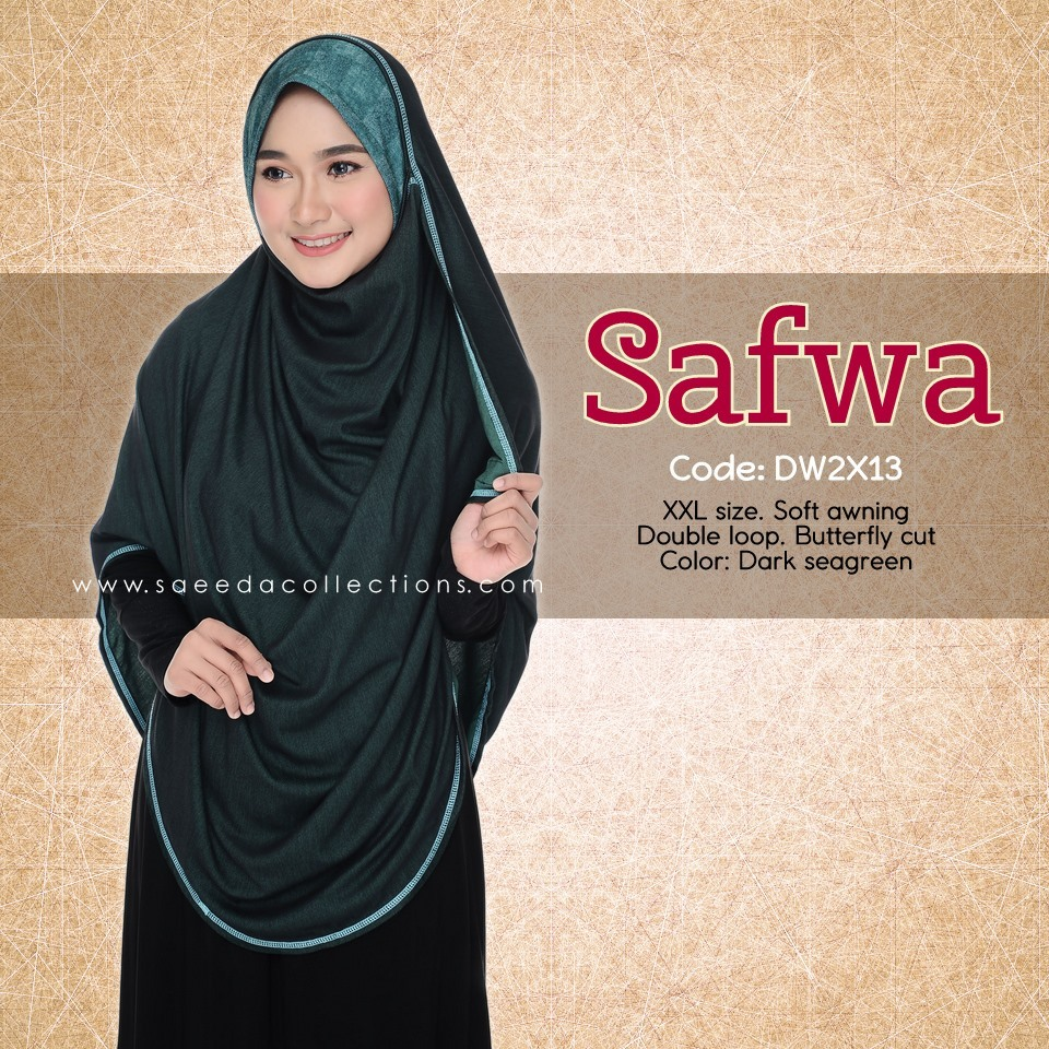 DOUBLE LOOP SHAWL DENIM LABUH XXL SAFWA DW2X13