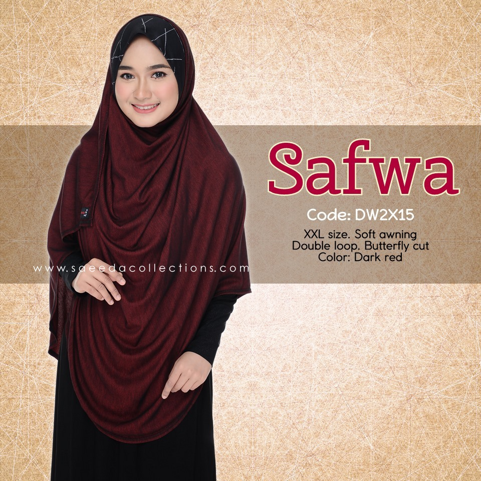 DOUBLE LOOP SHAWL DENIM LABUH XXL SAFWA DW2X15
