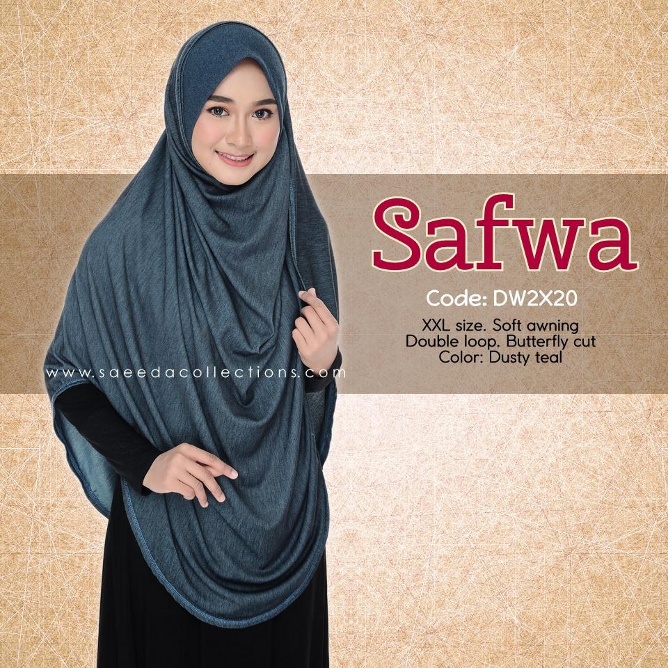 DOUBLE LOOP SHAWL DENIM LABUH XXL SAFWA DW2X20