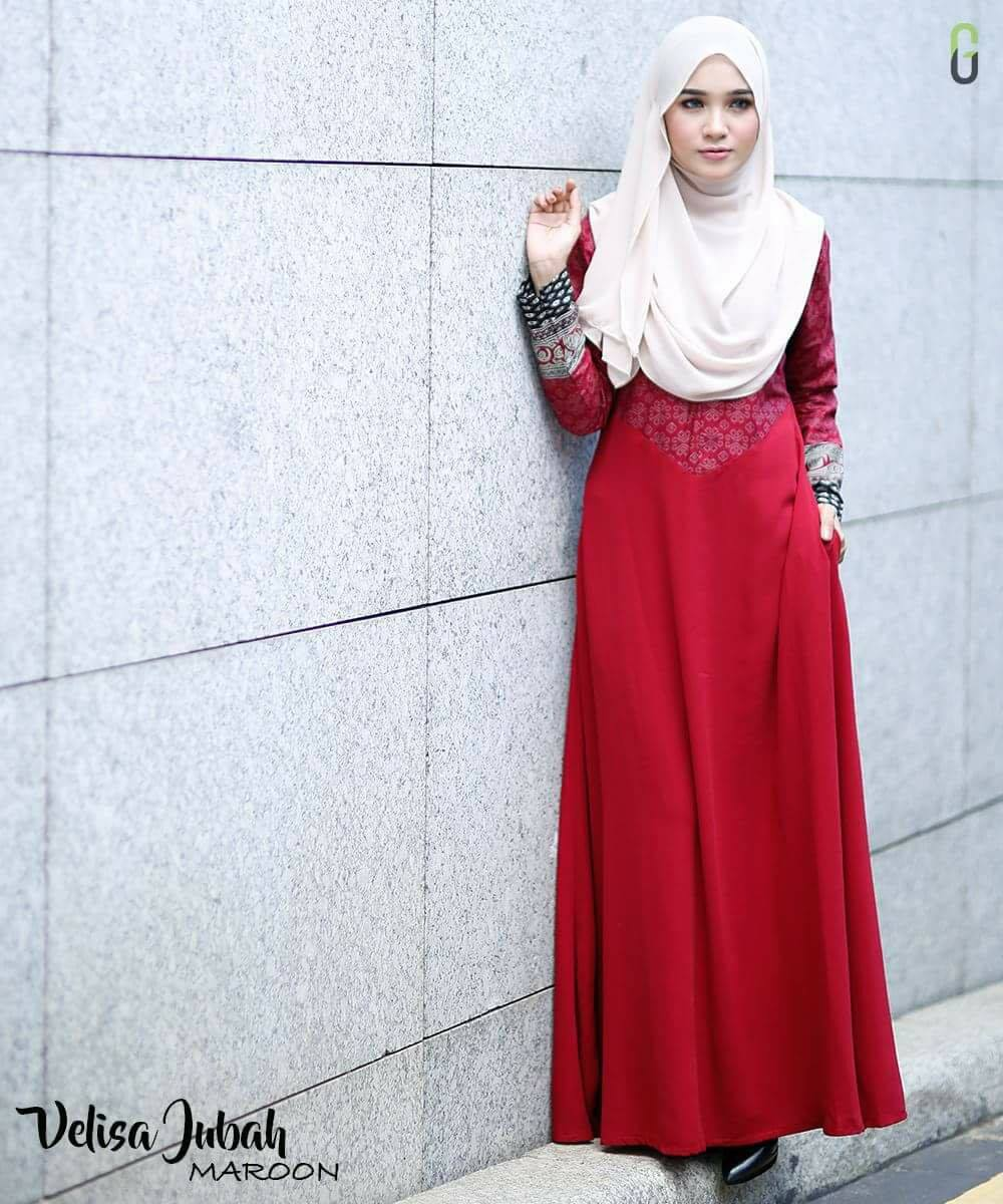 DRESS CREPE VELISA MAROON B