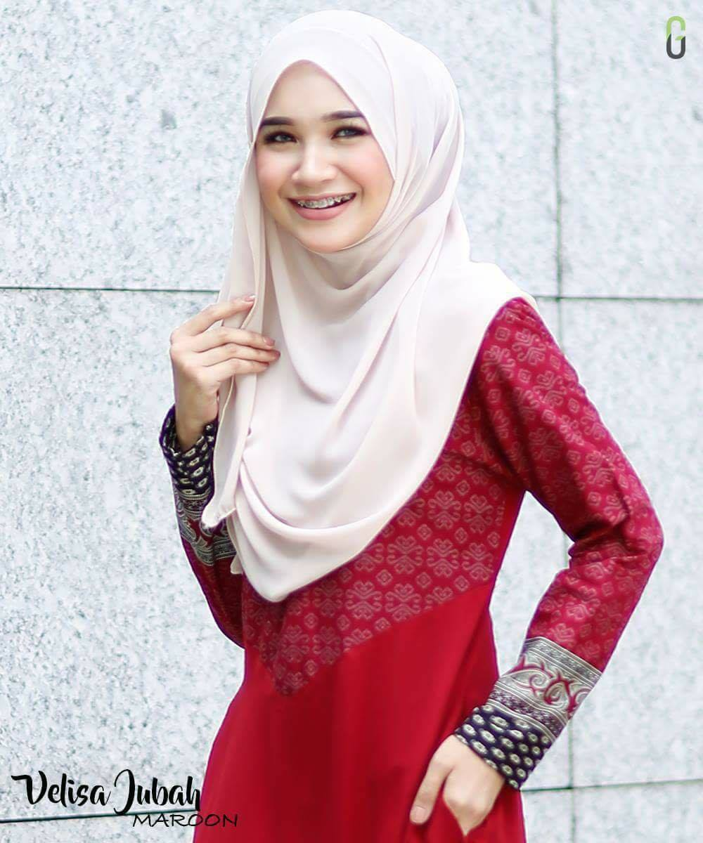 DRESS CREPE VELISA MAROON D