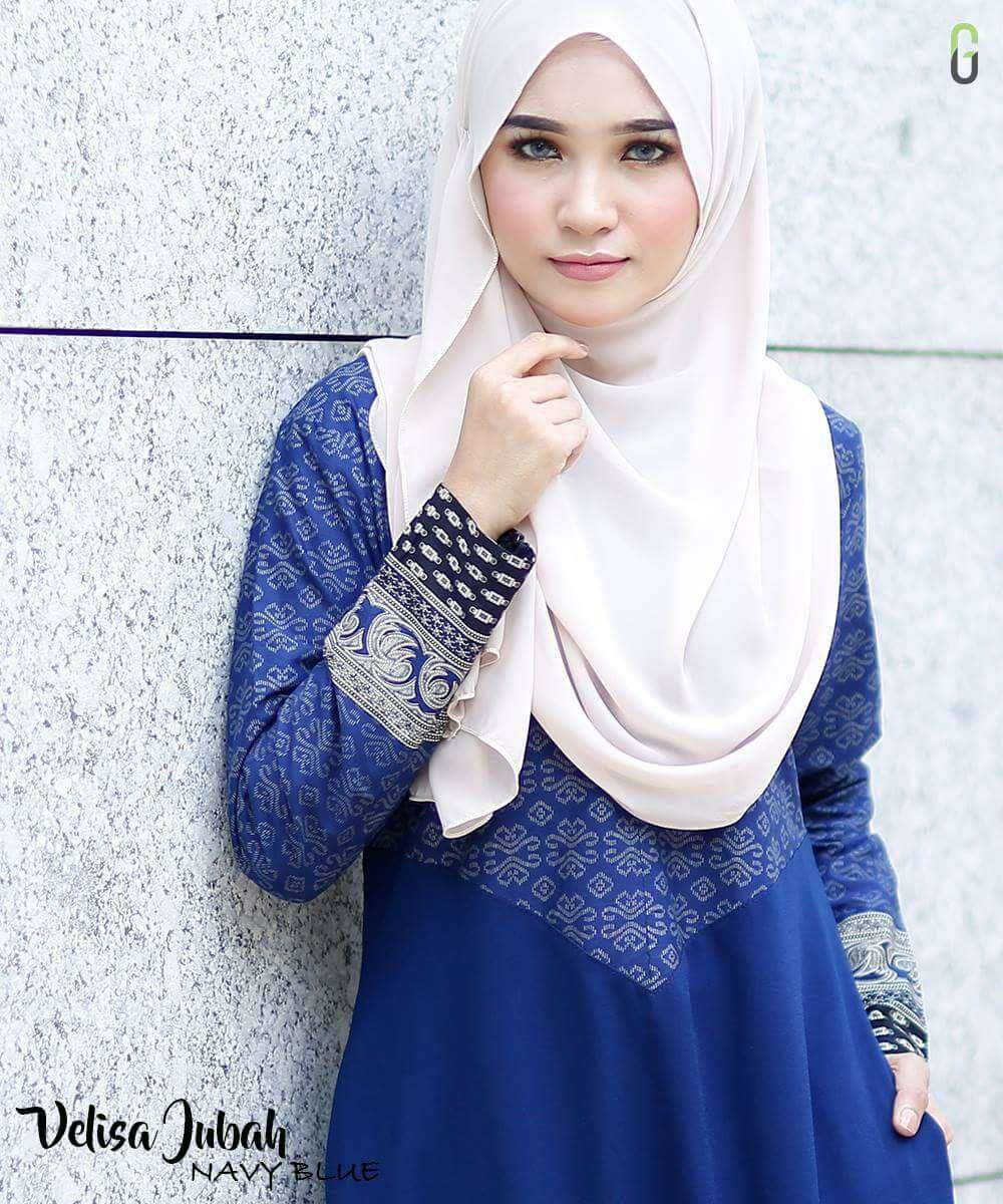DRESS CREPE VELISA NAVY BLUE C