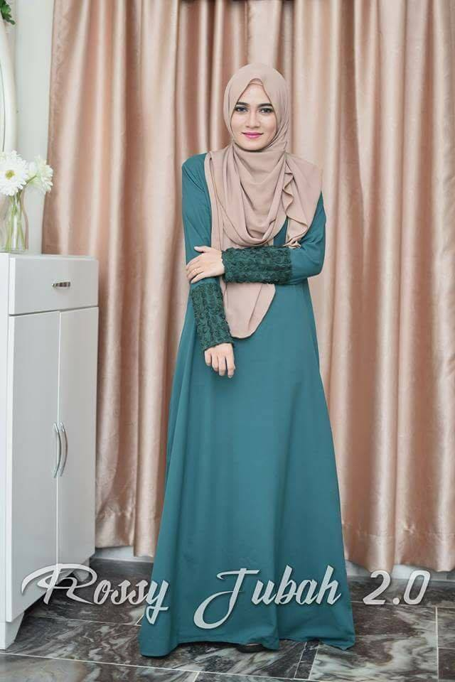 DRESS MUSLIMAH CREPE ROSSY GREEN