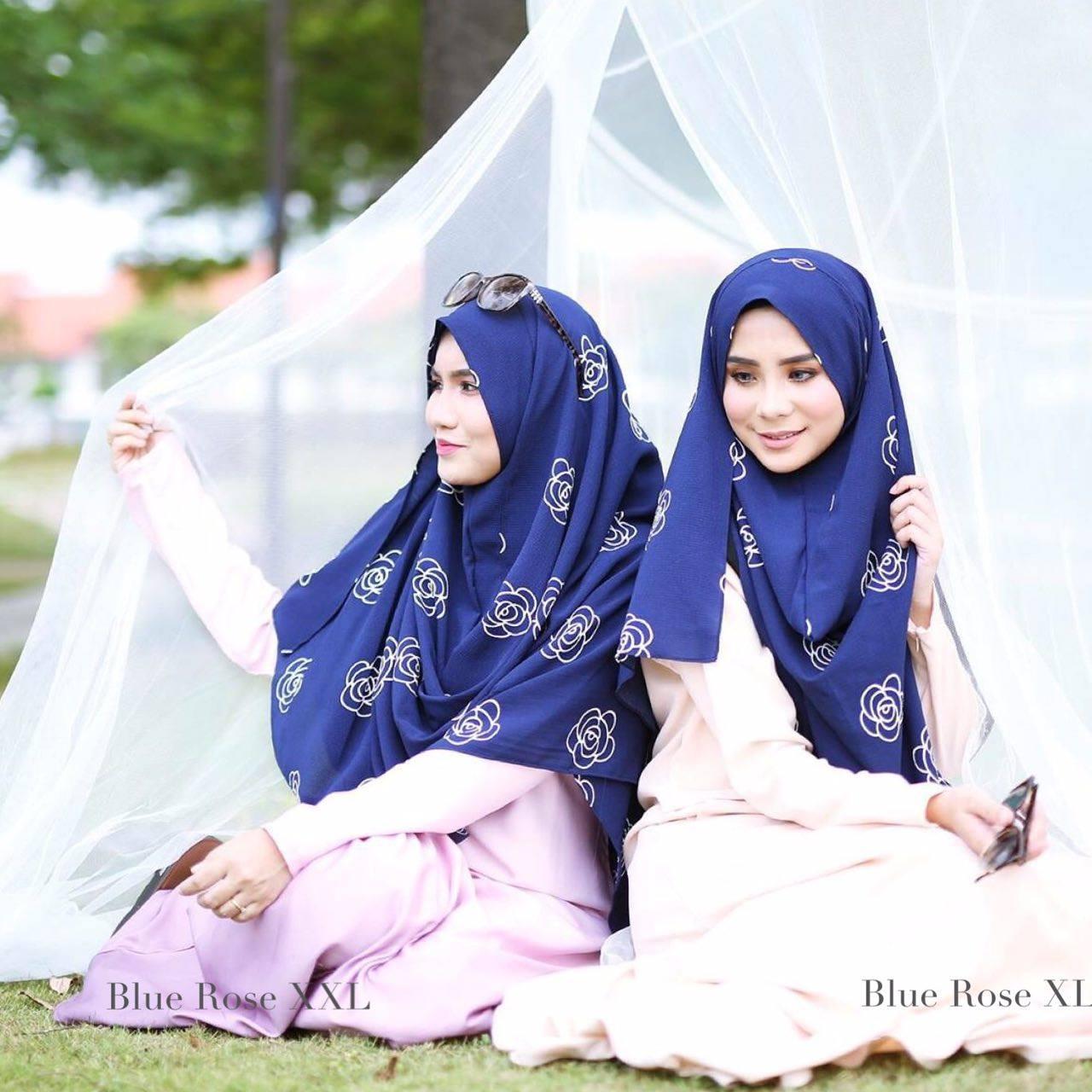 INSTANT SHAWL HUSNA LABUH BLUE ROSE