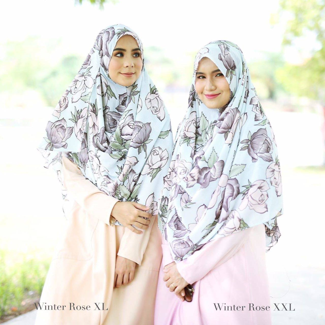 INSTANT SHAWL HUSNA LABUH WINTER ROSE