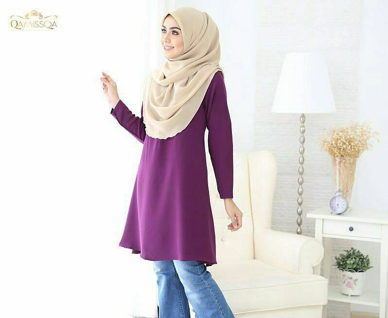 LEESA LONG TOP PURPLE A