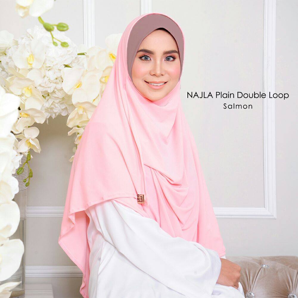SHAWL DOUBLE LOOP NAJLA SALMON