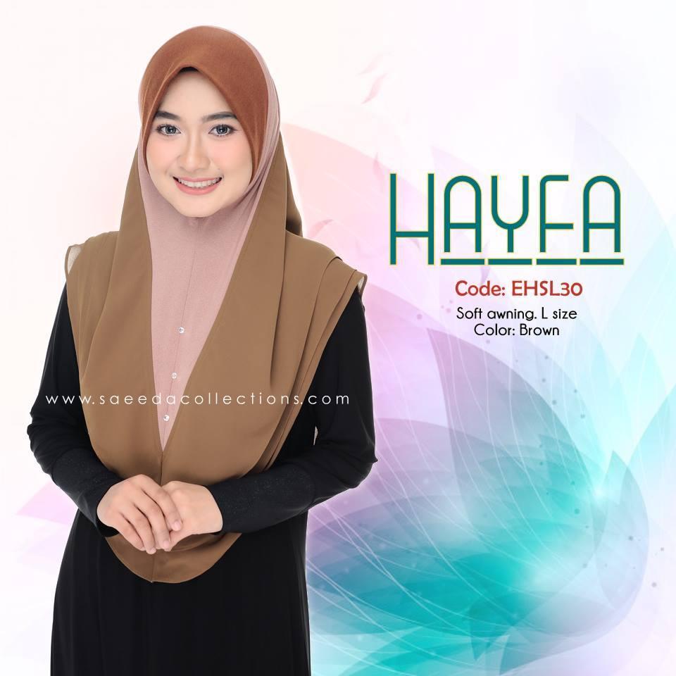 TUDUNG LABUH SAIZ L LYCRA CHIFFON HAYFA EHSL30
