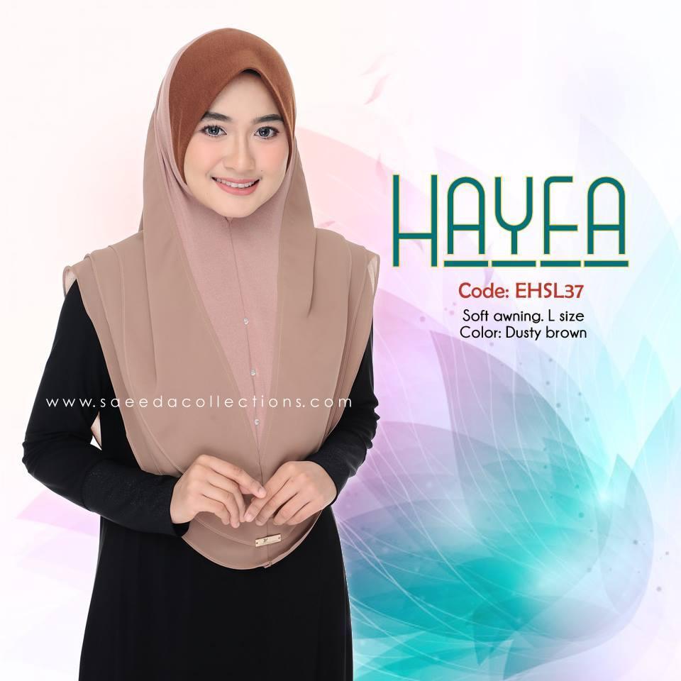 TUDUNG LABUH SAIZ L LYCRA CHIFFON HAYFA EHSL37