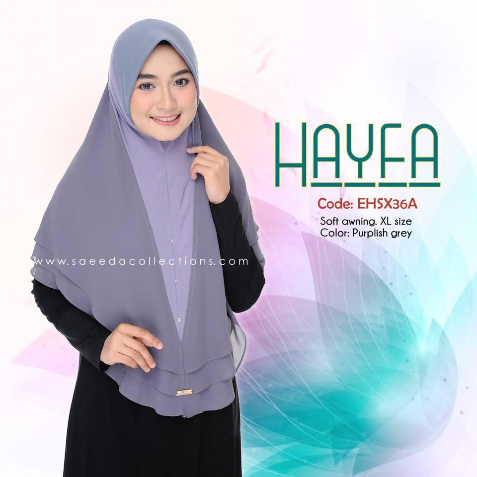 TUDUNG LABUH XL LYCRA CHIFFON HAYFA EHSX36A