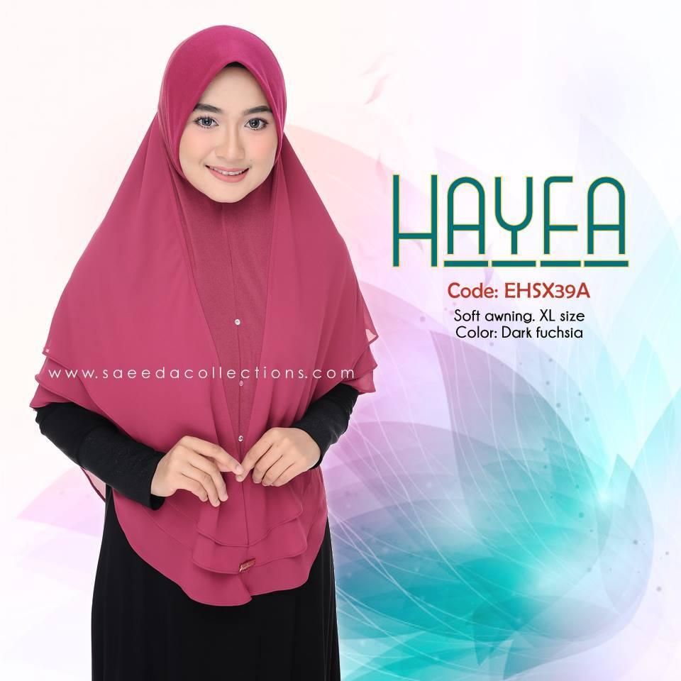 TUDUNG LABUH XL LYCRA CHIFFON HAYFA EHSX39A
