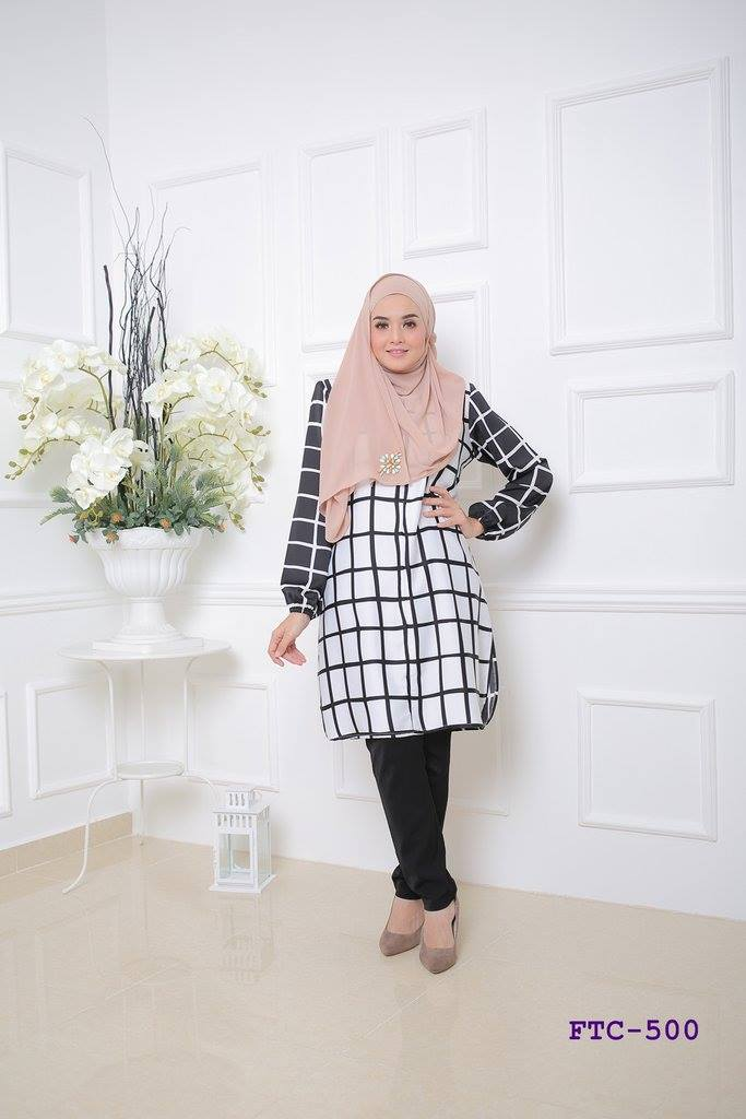 TUNIC MUSLIMAH FLANNEL SATIN FTC500 A