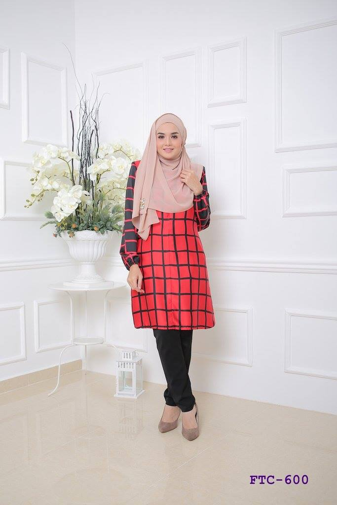 TUNIC MUSLIMAH FLANNEL SATIN FTC600 A