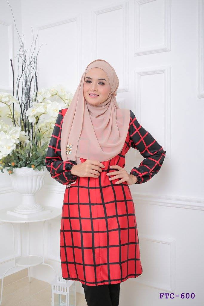 TUNIC MUSLIMAH FLANNEL SATIN FTC600 B