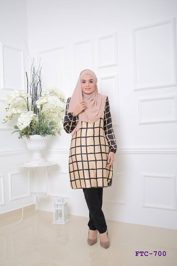TUNIC MUSLIMAH FLANNEL SATIN FTC700 A