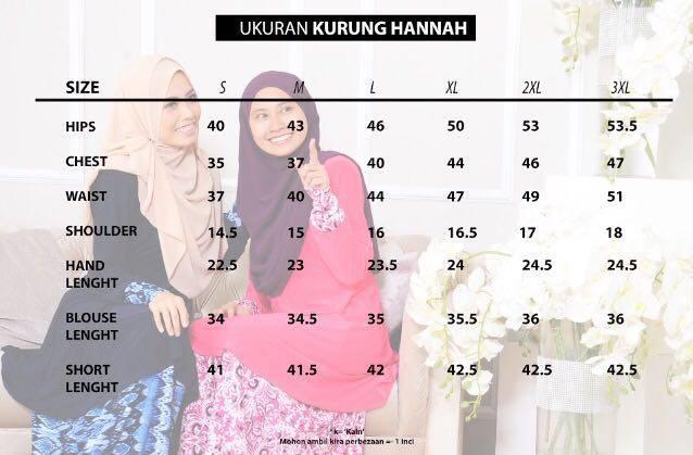UKURAN HANNAH