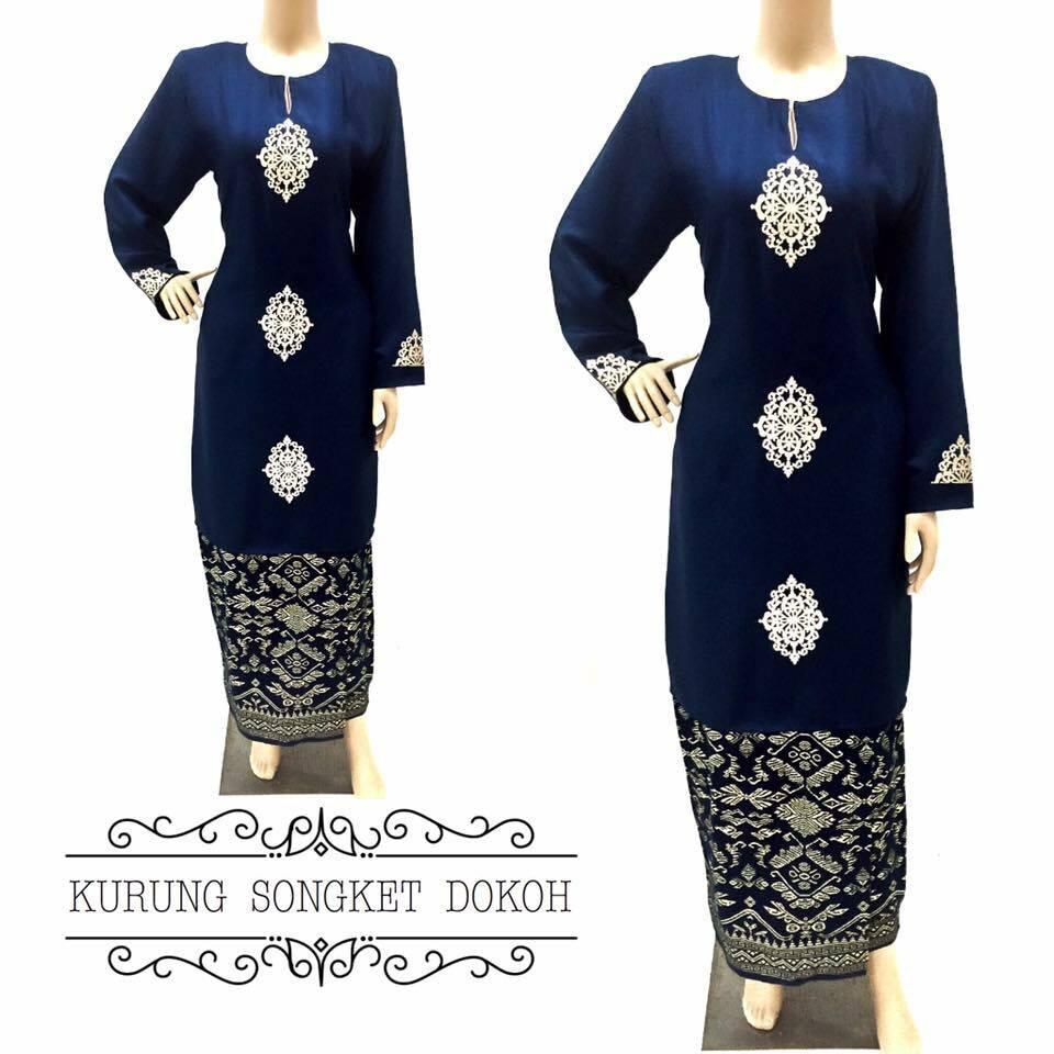 baju-kurung-moden-songket-dokoh-dark-blue