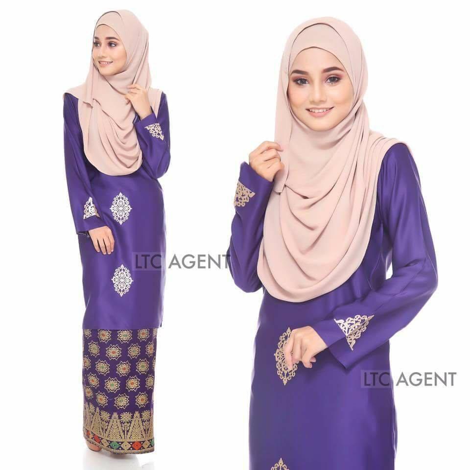 baju-kurung-moden-songket-dokoh-deep-purple