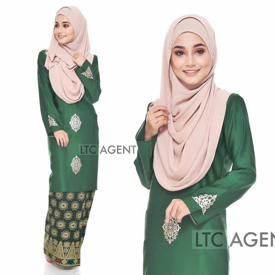 baju-kurung-moden-songket-dokoh-emerald-green