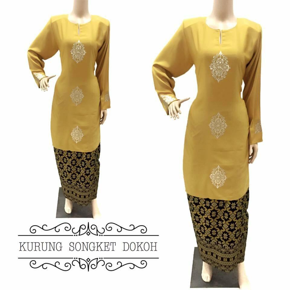 baju-kurung-moden-songket-dokoh-kuning
