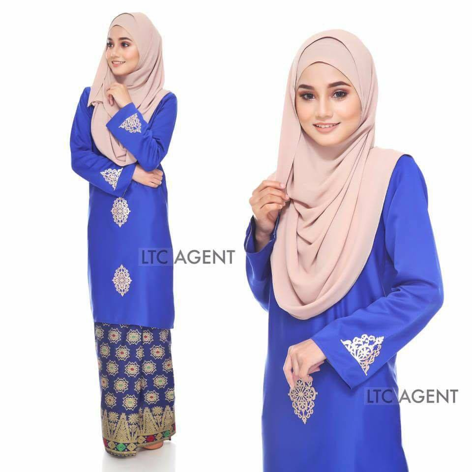 baju-kurung-moden-songket-dokoh-royal-blue