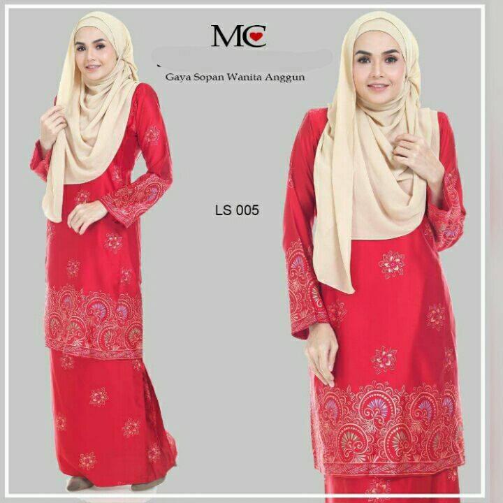baju-kurung-pahang-satin-lareessa-merah