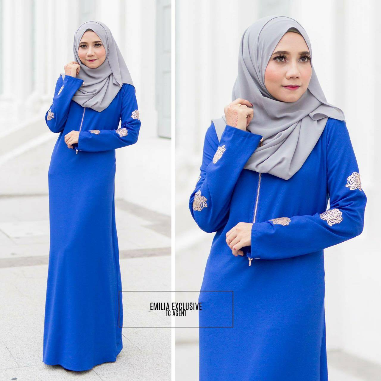 DRESS EMILIA ROYAL BLUE
