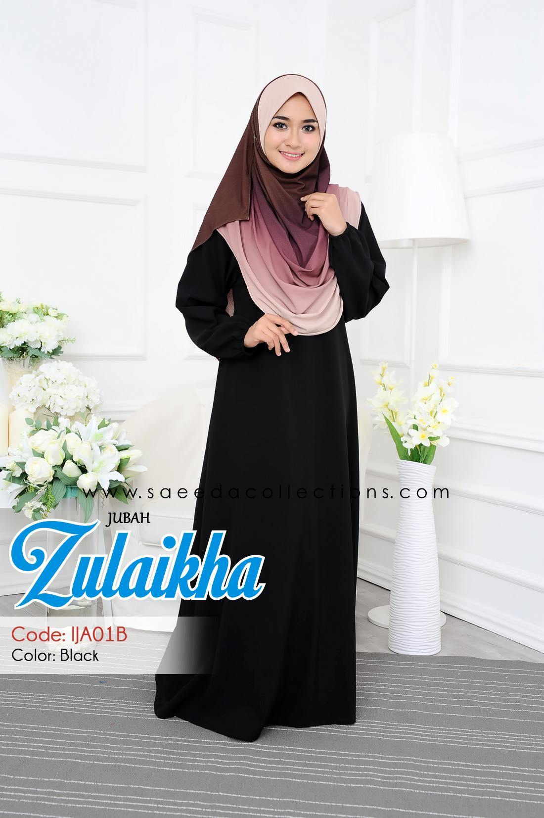 DRESS POLYCREPE ZULAIKHA IJA01B