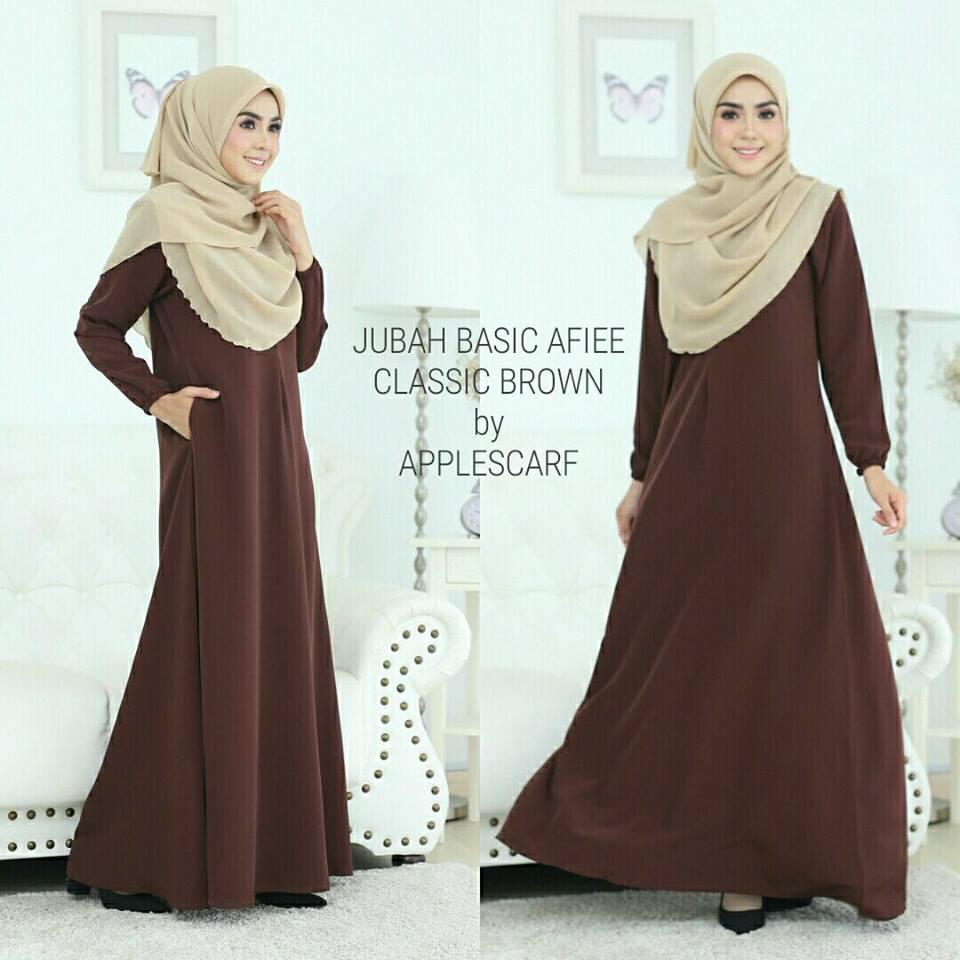 jubah-afiee-classic-brown