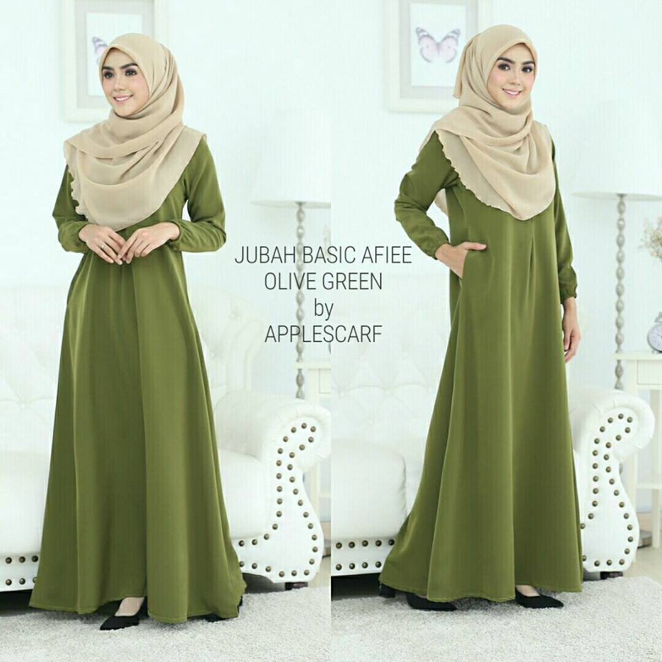 jubah-afiee-olive-green