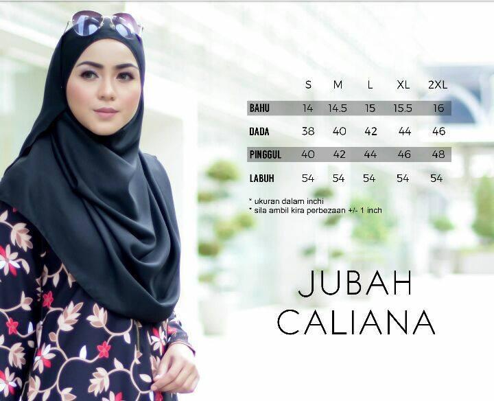 jubah-calliana-ukuran