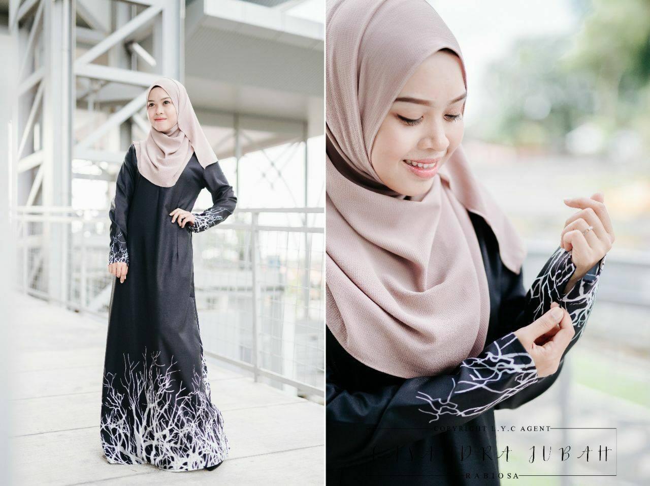 jubah-casandra-moss-crepe-black