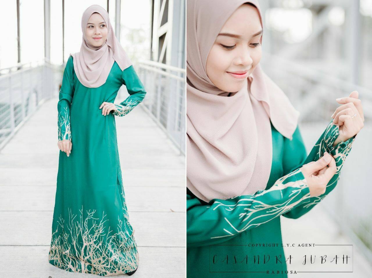 jubah-casandra-moss-crepe-green