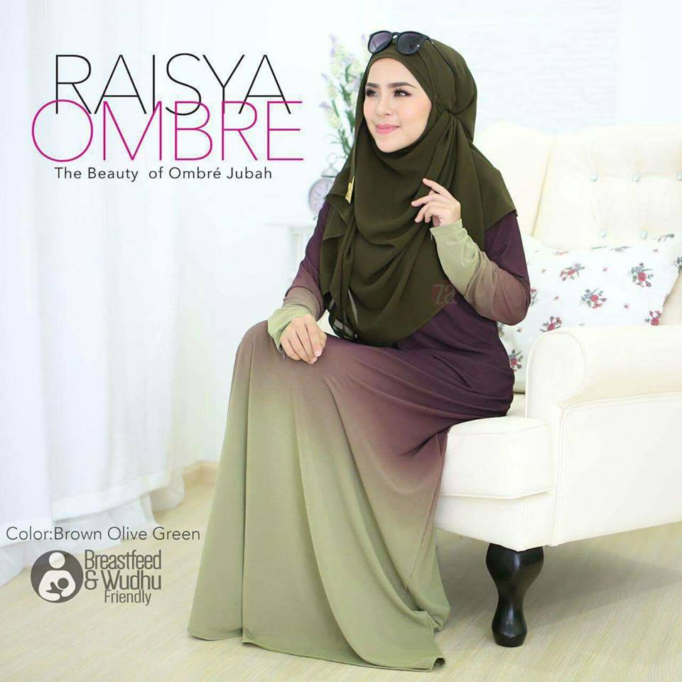 jubah-raisya-ombre-brown-green
