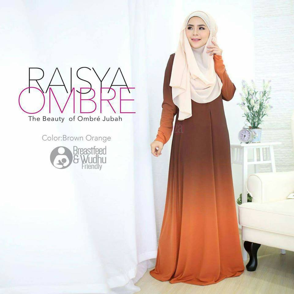 jubah-raisya-ombre-brown-orange