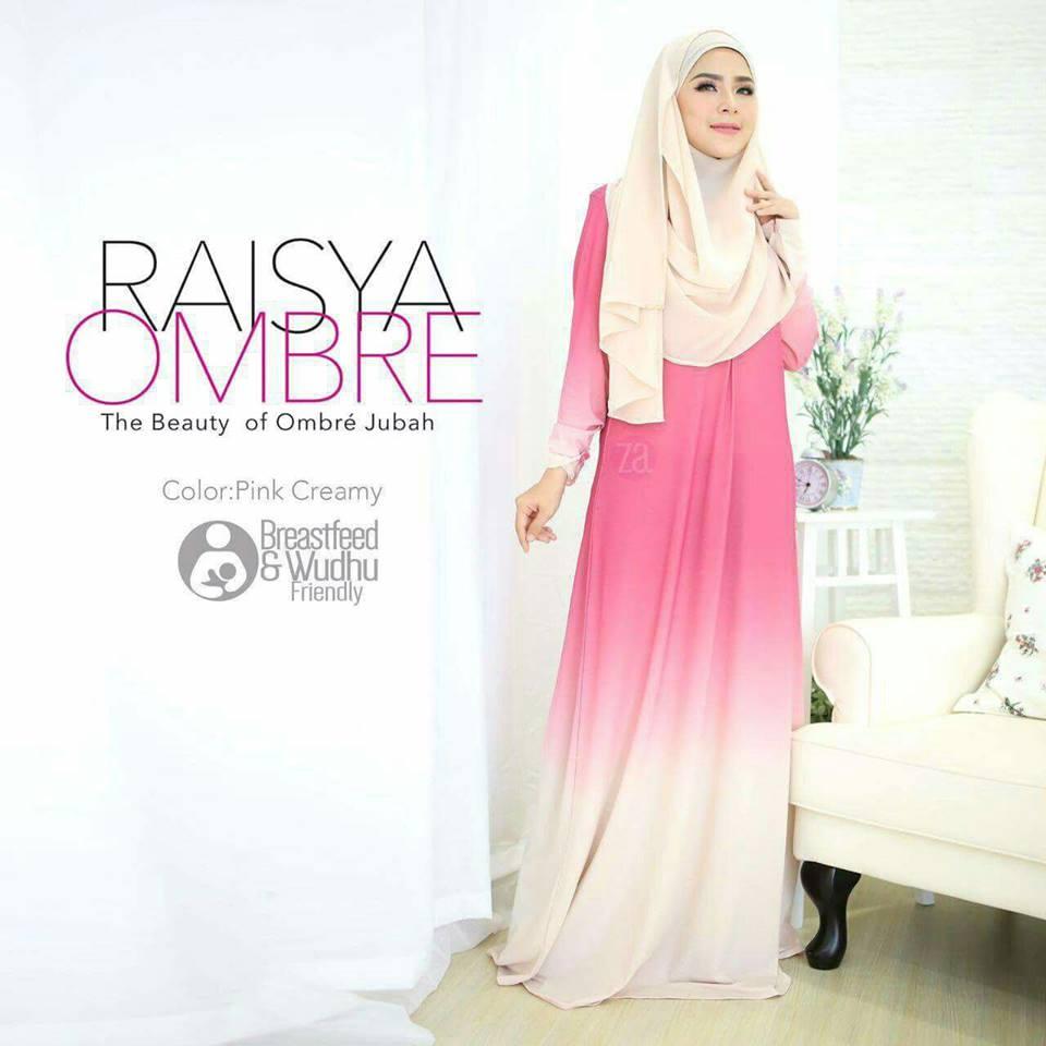 jubah-raisya-ombre-pink-creme