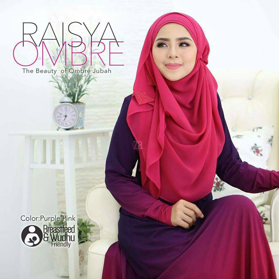 jubah-raisya-ombre-purple-pink