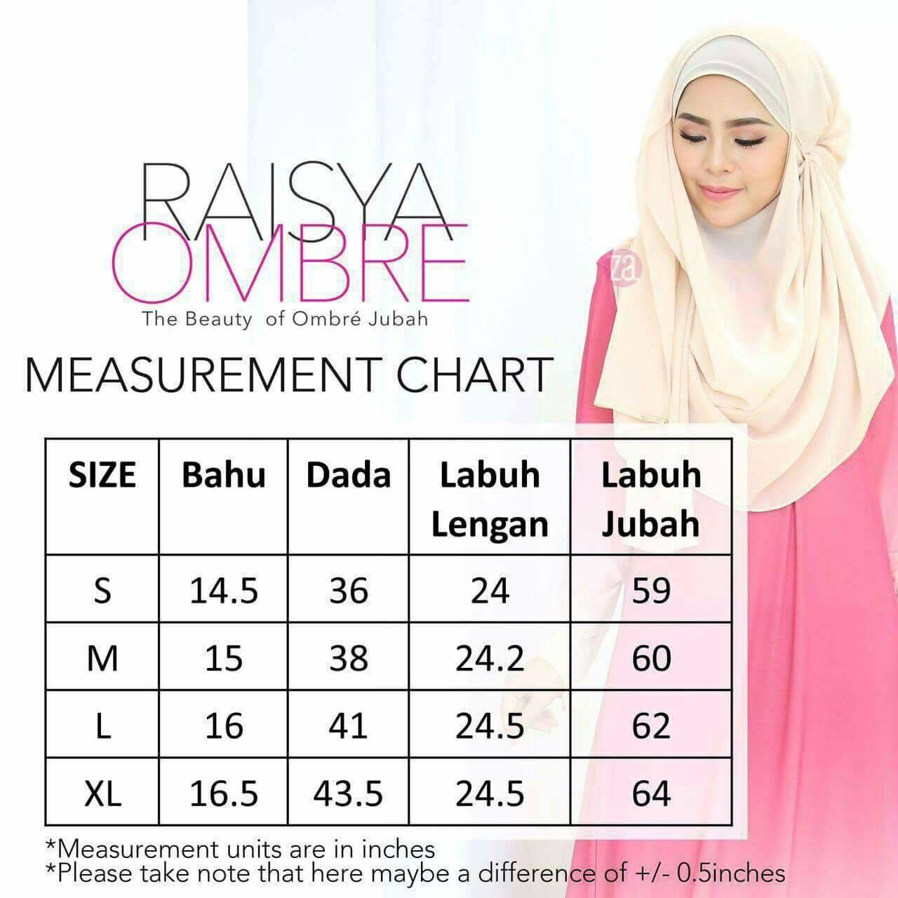 jubah-raisya-ombre-ukuran