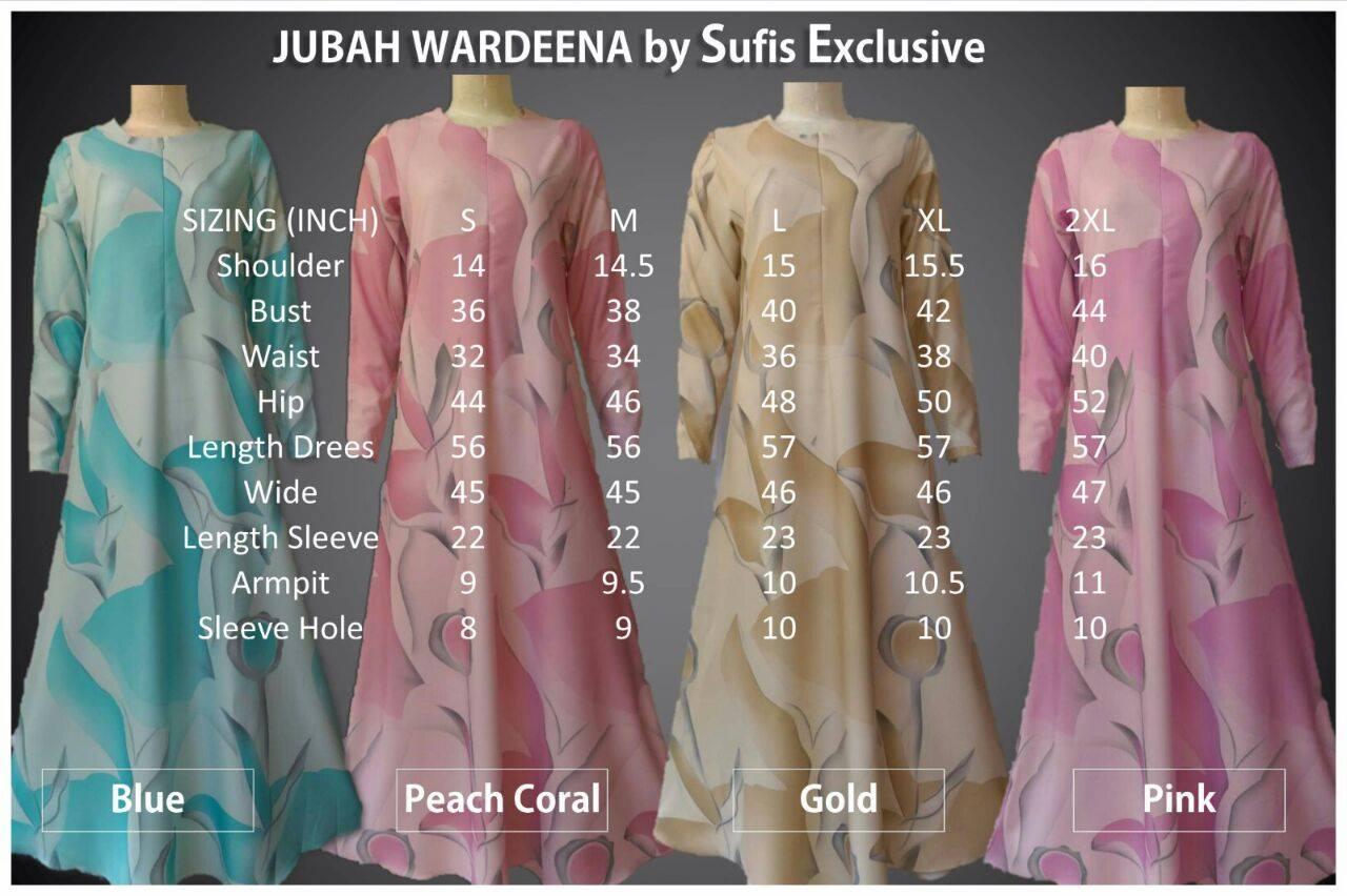 jubah-wardeena-ukuran