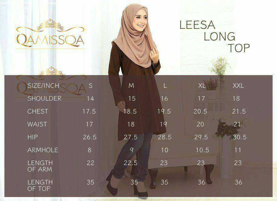 leesa-long-top-ukuran