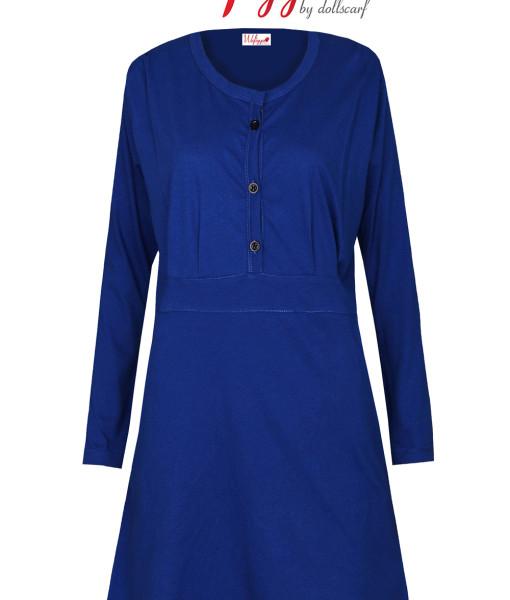 tshirt-muslimah-cotton-farha-plain-royal-blue