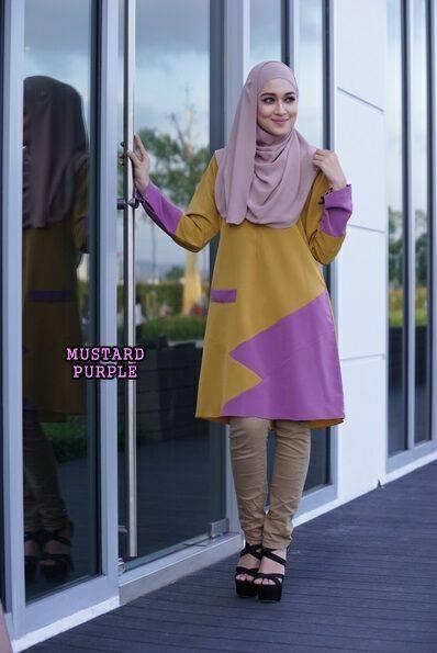 blouse-azalea-mustard-purple