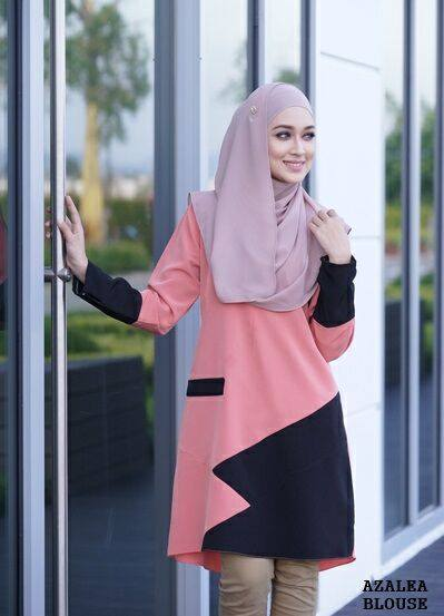 blouse-azalea-salmon-peach-black-b