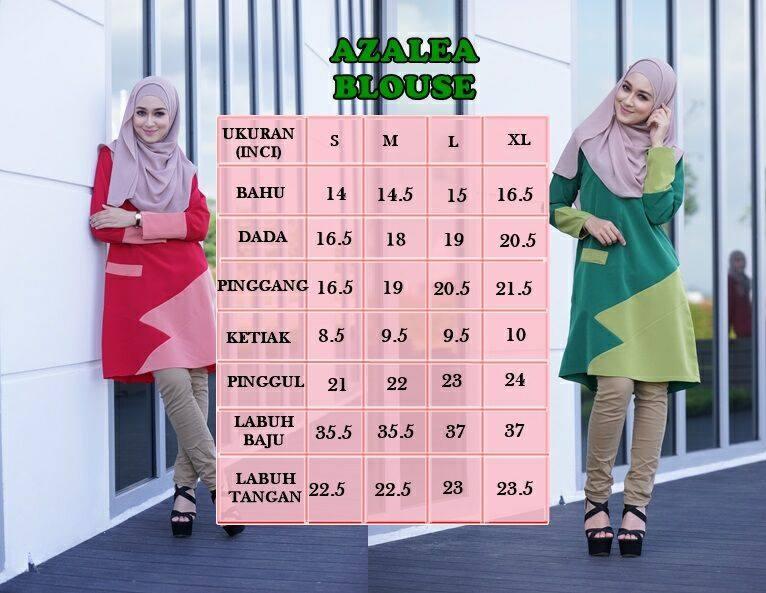 blouse-azalea-ukuran
