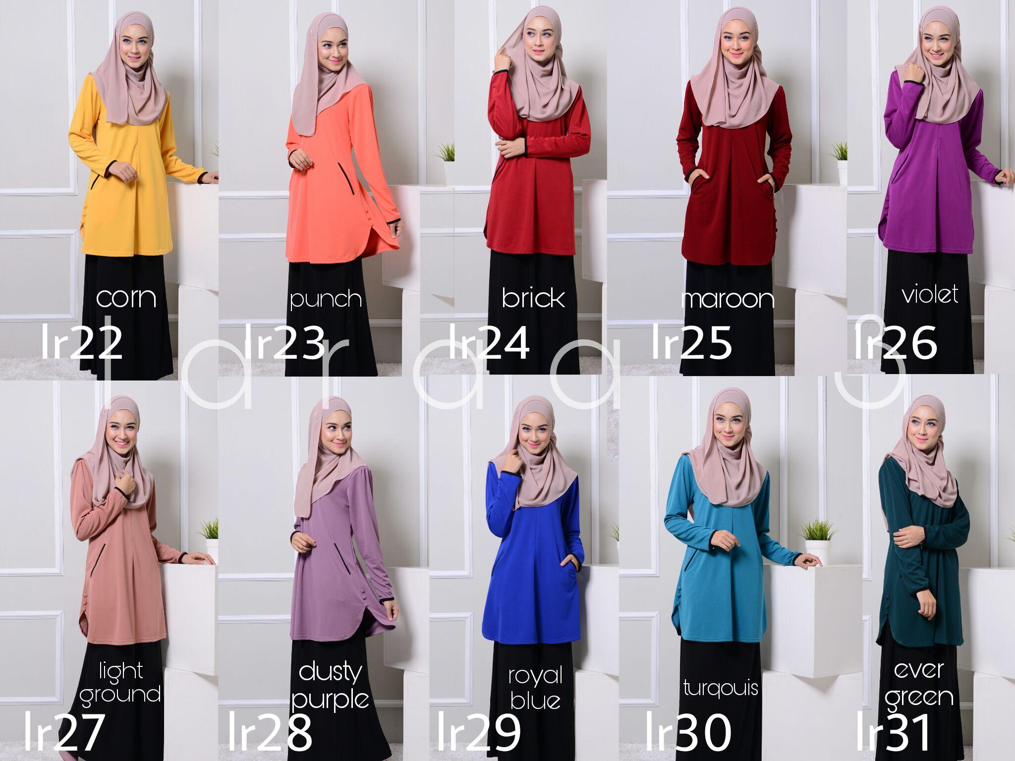 blouse-muslimah-crepe-laraa-lr-all