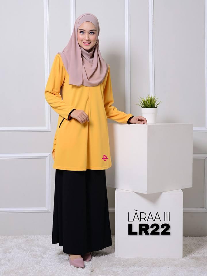 blouse-muslimah-crepe-laraa-lr22