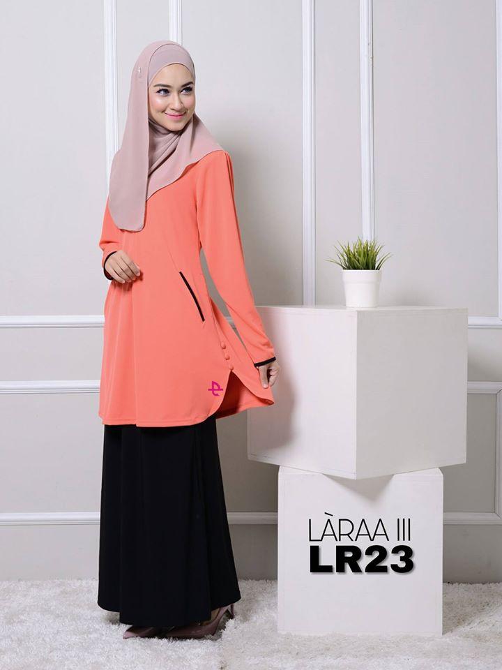 blouse-muslimah-crepe-laraa-lr23