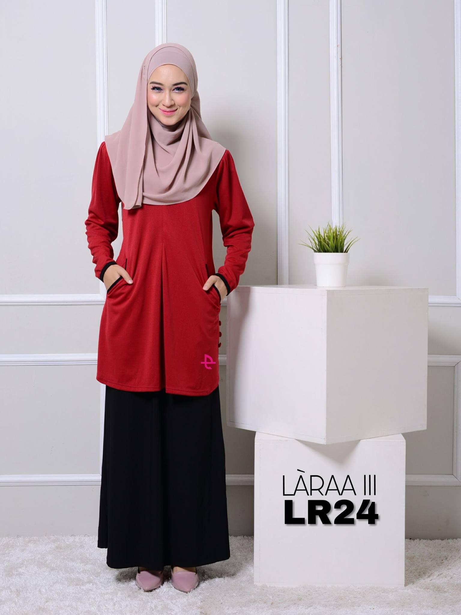 blouse-muslimah-crepe-laraa-lr24