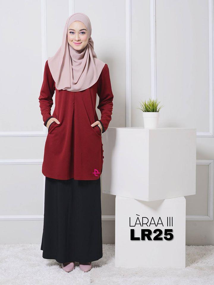 blouse-muslimah-crepe-laraa-lr25
