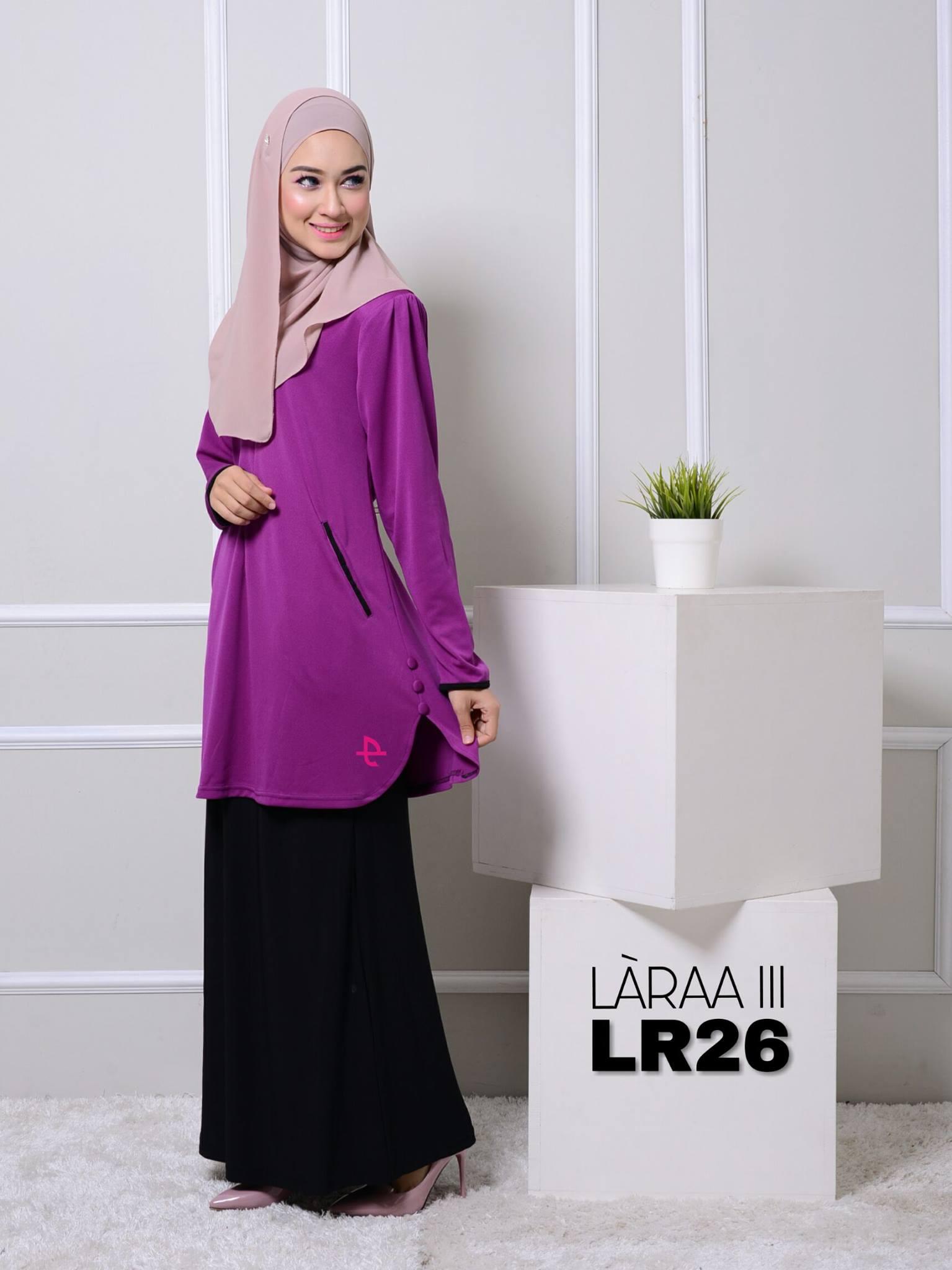 blouse-muslimah-crepe-laraa-lr26